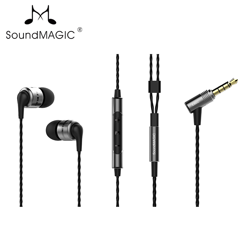 New SoundMAGIC E80C In-Ear Isolating earphones with microphone heavy bass music ear mobile earphone kanen ip 608 stylish in ear earphones w microphone clip red white 3 5mm plug 120cm