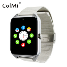 ColMi Smart Watch GT08 Sync Notification With TF SIM Card Slots for Android iPhone Bluetooth Connectivity Alloy Strap Smartwatch
