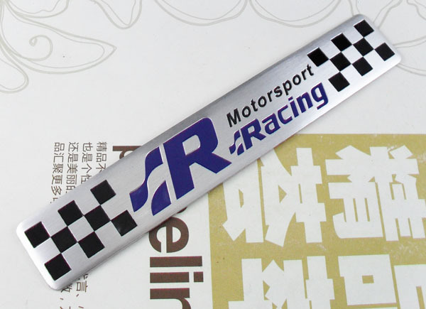 Auto Aluminum R line Motorsport Racing for golf cc Emblem Decal Badge Sticker auto chrome camaro letters for 1968 1969 camaro emblem badge sticker