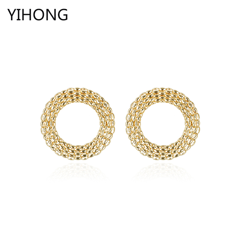 Basketball Wives Circle Earrings Gold Color Alloy Pendant Hoop Earring for Fashion Women Jewelry Factory Direct Sale