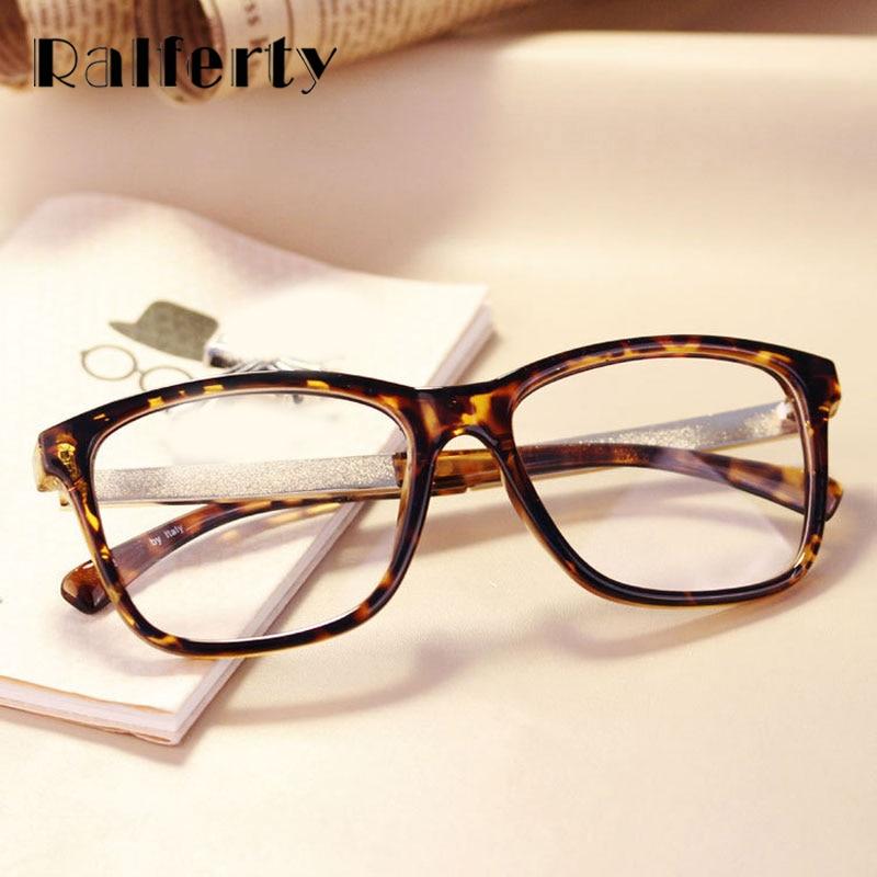 8a29c8289ac5 Ralferty Glasses Frames Woman Man Eyeglasses Frame for Myopia Vew Plica Eye  Glasses Plain Mirror Glass Vintage Black Spectacles-in Eyewear Frames from  ...