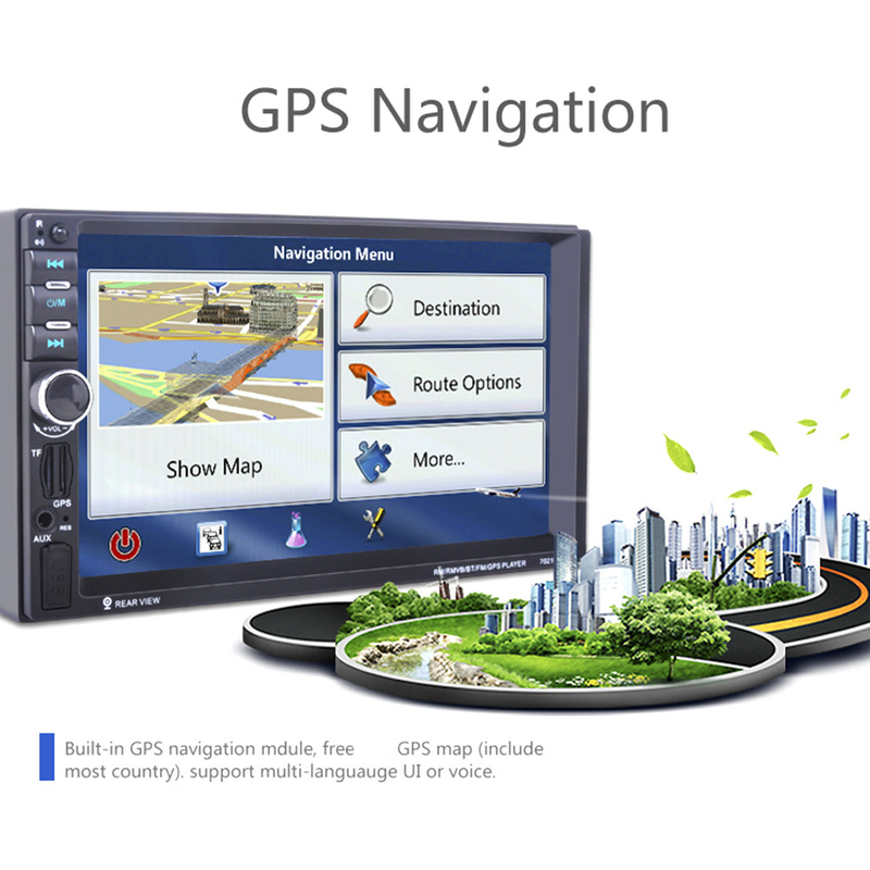 2 Din Car MP4/MP5 Player 7inch Touch Screen With Camera GPS Middle East Map Function SD USB AUX Rear View Steer Wheel Control2 Din Car MP4/MP5 Player 7inch Touch Screen With Camera GPS Middle East Map Function SD USB AUX Rear View Steer Wheel Control