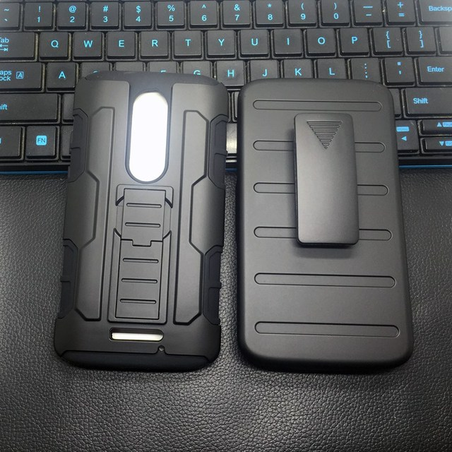 Men Phone Case For Motorola Moto Droid Turbo 2/XT1585/X Force/Z Force/Z Play Heavhy Duty Armor Hybird Rubber Holster+Belt Clip