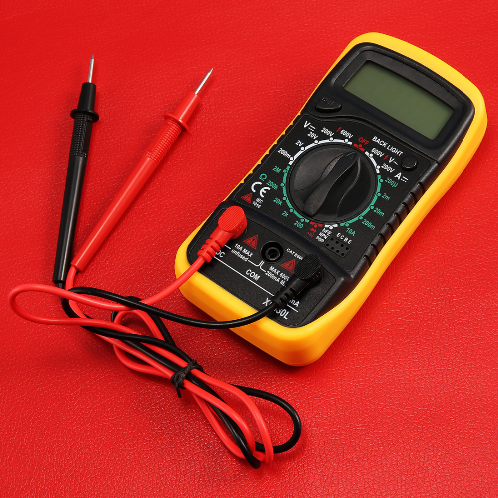 Digital LCD multímetro voltímetro amperímetro AC DC ohm Volt tester PRUEBA DE CORRIENTE