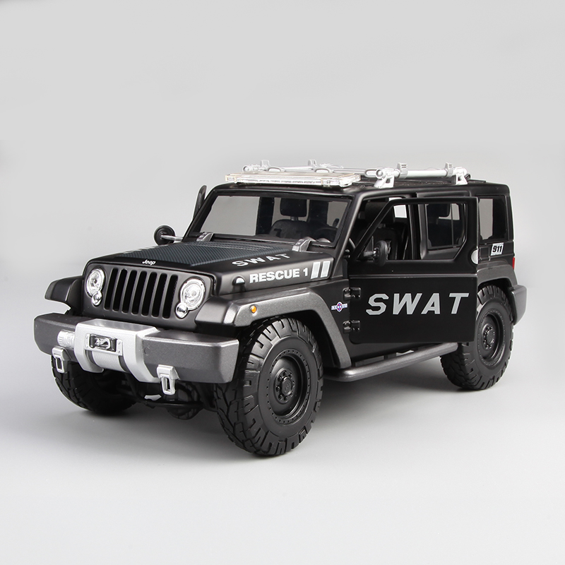 Brand New 1/18 Scale Car Model Toys 2009 JEEP Cross-country SUV Concept Car(Police Version) Diecast Metal Model Toy For Gift 1 6 diecast model bike yamaha cross country motorcycle newray