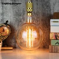 big large size G200 edison bulb led 8W E27 light amber retro saving lamp vintage filament Edison ampul light chandelier 220V