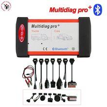 DHL бесплатно! (2016 R0/2015 R3) Красный Multidiag Pro с Bluetooth VD TCS CDP + 21 язык + полный комплект 8 шт. автомобильные кабели для автомобилей и грузовиков