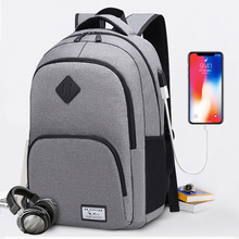 купить Men Backpack Laptop Fashion Casual USB Charging Backpack for Teenage School Bags Men Mochila Hombre Bag Pack Man Travel Backpack по цене 651.38 рублей