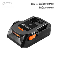 Rechargeable Batteries for RIDGID 18V 2000mah 2Ah Li ion Replacement Battery for RIDGID R840084 AC840084 Power Tool battery