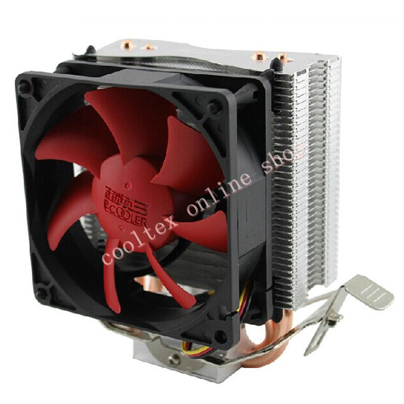 Free Shipping CPU cooler for Intel LGA 775/1155/1156, AMD AM3/AM2+/AM2/754 , heatsink,Fans & Cooling,ultra quiet 4 heatpipe 130w red cpu cooler 3 pin fan heatsink for intel lga2011 amd am2 754 l059 new hot