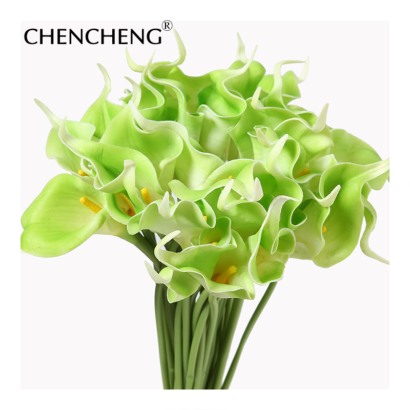 CHENCHENG PU Calla lily Flower Real Touch Wedding flower Bouquet ...