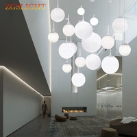Modern Beaver pendant light dining room bedroom balcony stairs creative design six diameter glass ball single pendant lamp