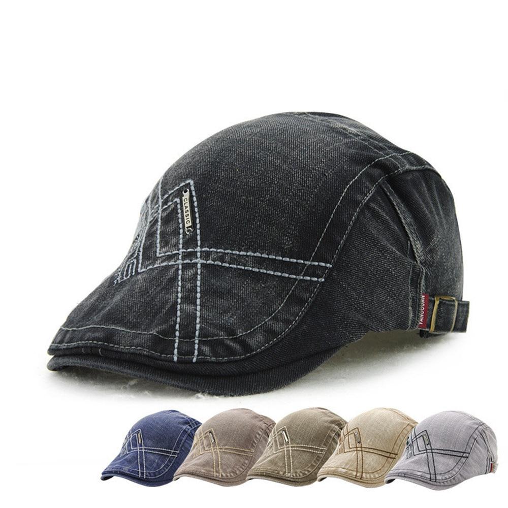Casual Unisex Beret Hats Embroidery Duckbill Casquette Boina Buckle Visors Golf Driving Flat Detective Hat Casquette Newsboy Cap