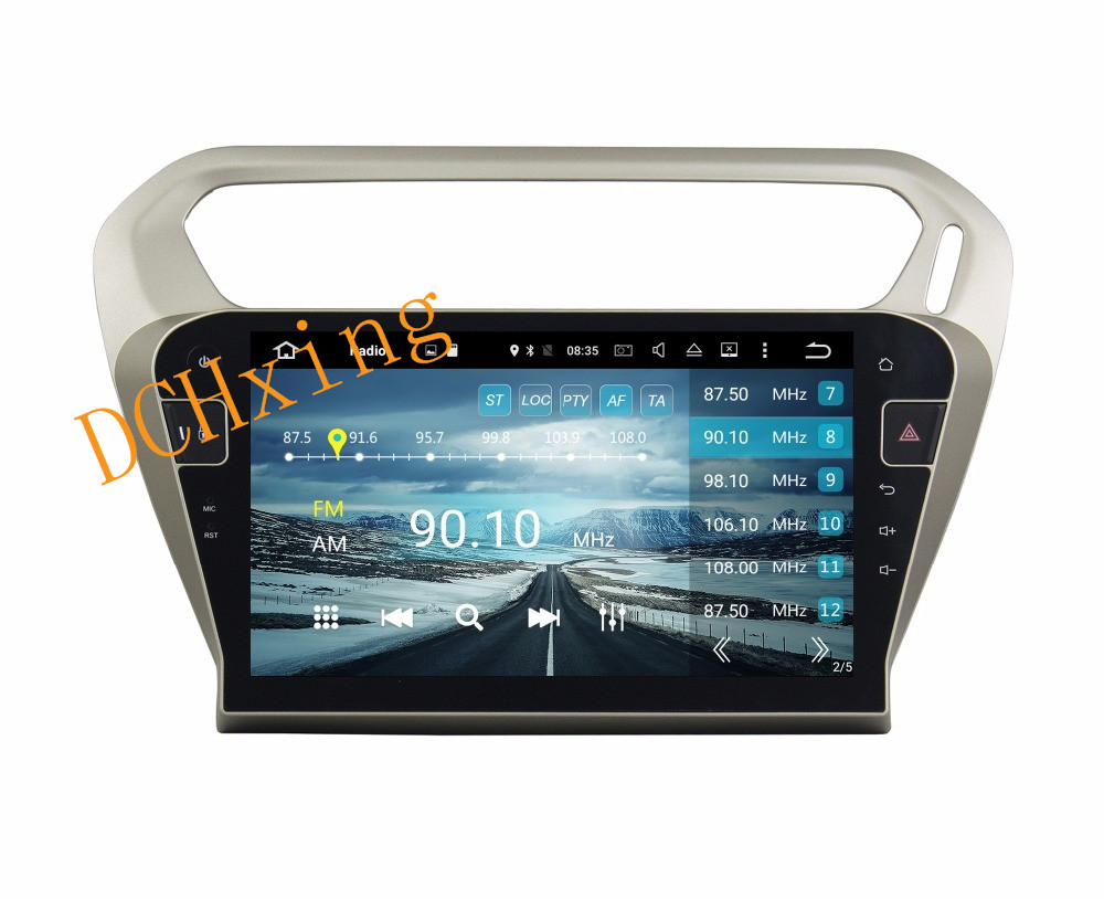 """Cheap 10.1"""" Octa Core Android 9.0 8 core 64G ROM 4G RAM Car DVD Player for Peugeot PG 301 2013-2016 Citroen Elysee GPS Radio 7"""