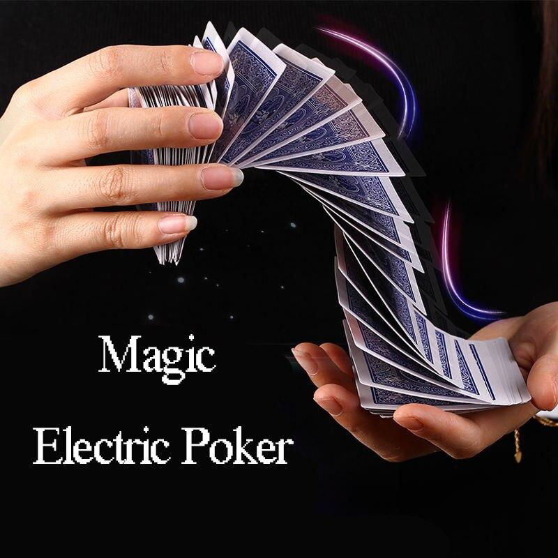 Magic Electric Poker Magician Tools Easy Funny Interesting Amazing Super Waterfall Card Props Automatic Poker Magic Tricks Poker