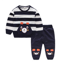 2-8Y Kids Clothes Set Baby Boys Clothing Toddler Shirt Pant 2PCS Chirldren Costume Baby Boys Autumn Spring Outfits Clothes