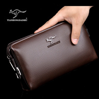 2017 new fashion Men's password lock purse PU Leather handbags High capacity soft long Clutch wallet business Clutch bag