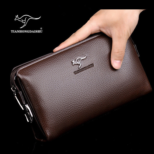 2017 new fashion Men s password lock purse PU Leather handbags High  capacity soft long Clutch wallet business Clutch bag e6899cc947606