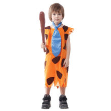 Children's Fred Flintstone Halloween Costume Cave stud child Jungle Tarzan caveman Cosplay Fancy dress  Outfit