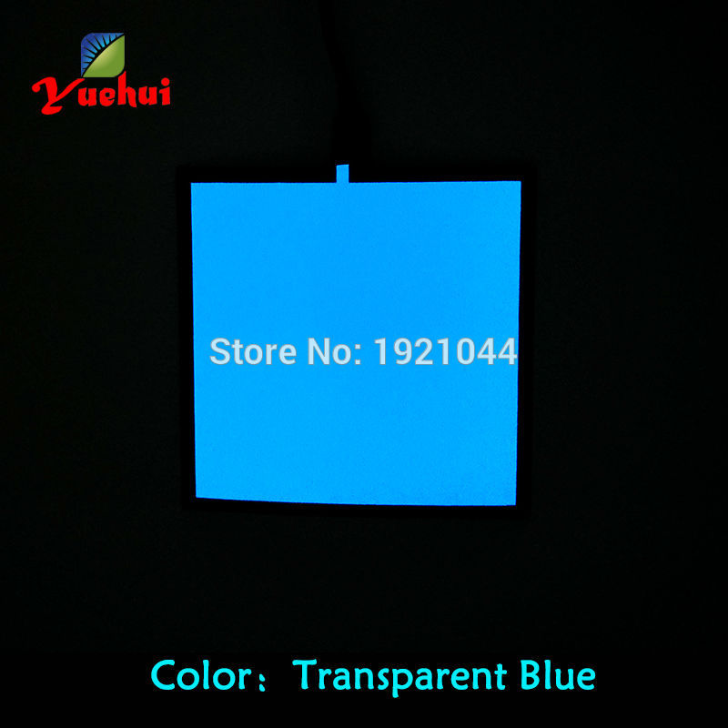 6 Color choice sound activated 10X10CM el sheet el panel el backlight for car,house,carnival,holiday festival party decoration
