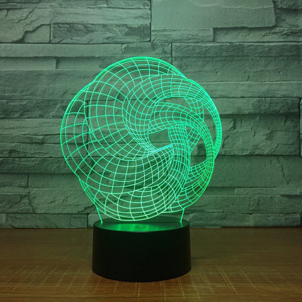 New Art Abstraction 3D Lamp 7 Color Led Night Lamps For Kids Touch Led Usb Table Lampara Lampe Baby Sleeping Nightlight Party Gi