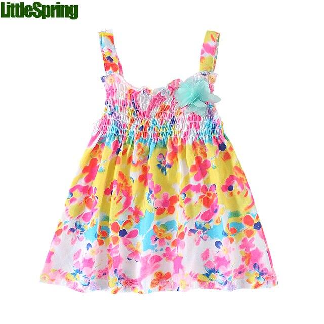 20e5234e6 Mudkingdom 2016 new summer style baby dress flower strap sun dress ...