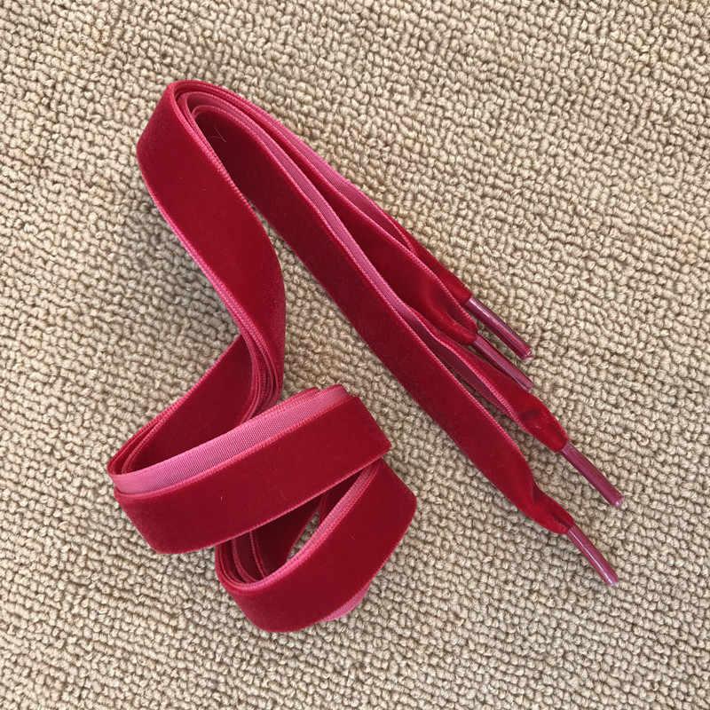 80 Cm 120 Cm Lengte 1.6 Cm Breedte Fluwelen Oppervlak Schoenveters Vrouwen Mannen Zwart Wit Blauw Kleurrijke Lederen Sport Casual schoenen Veters