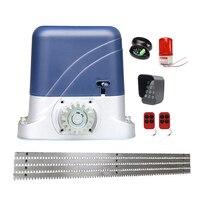 1300kg Heavy Duty automatic electric Sliding Gate Motor Opener with 4m steel racks,$sensor lamp keypad GSM optional