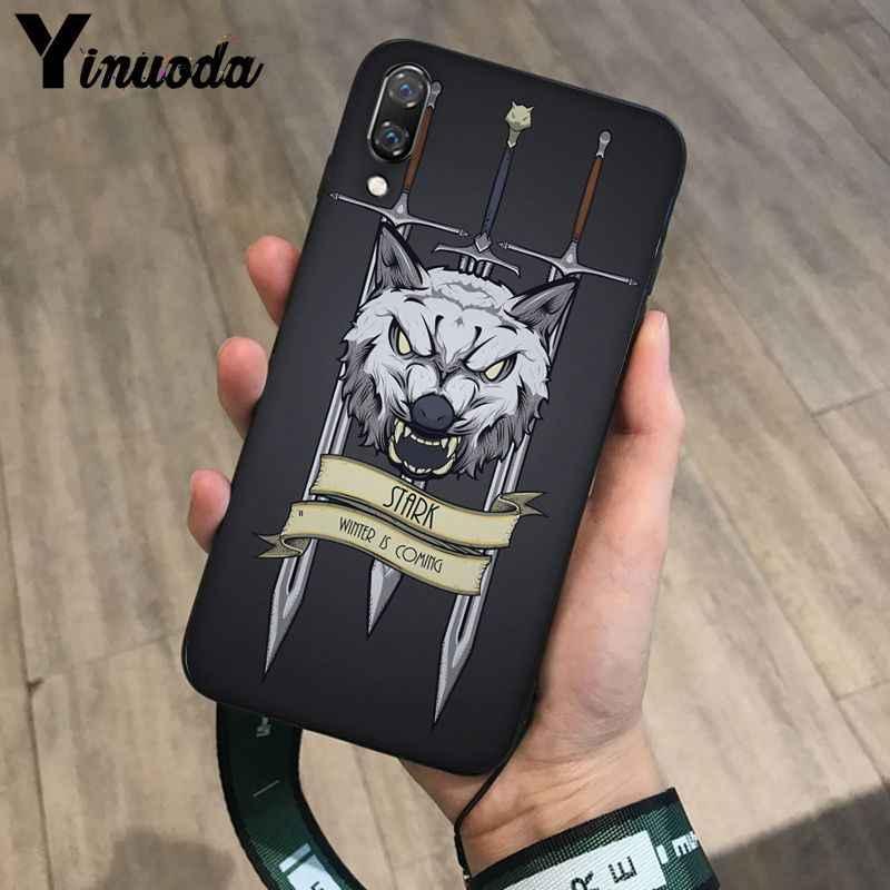 Yinuoda لعبة العروش الذئب مخصص لتقوم بها بنفسك رسمت جميلة جراب هاتف لhaiwei P10 plus Honor 9 10 View 10 Mate 9 Coque Shell