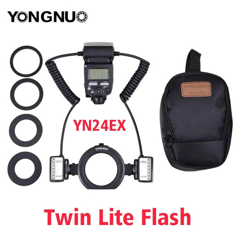 Prix pour Yongnuo macro twin lite flash yn-24ex flash speedlite pour canon close-up photographie/macro tir, similaire à canon mt-24ex