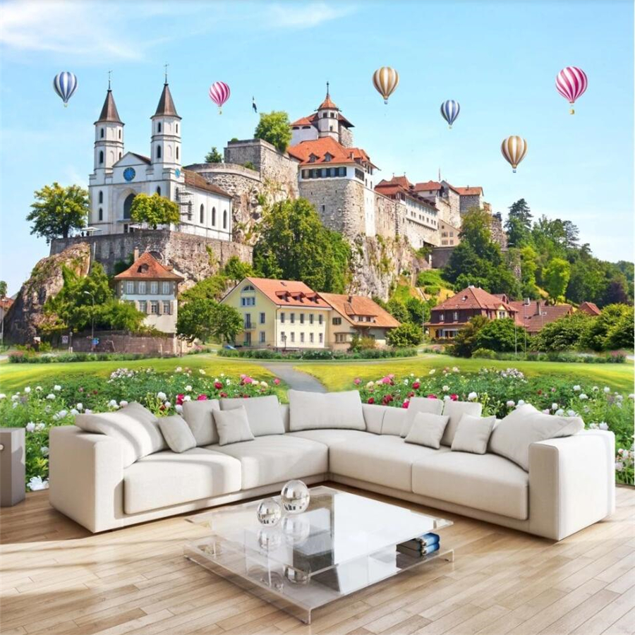 Beibehang Custom Wallpaper HD 3D Castle Landscape Painting Living Room Bedroom TV Background Wall Children's Room 3d Wallpaper