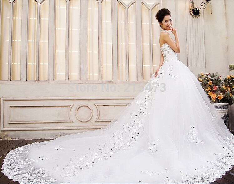 New Arrive 1.2meter Elegant Long Tail Bridal White Wedding