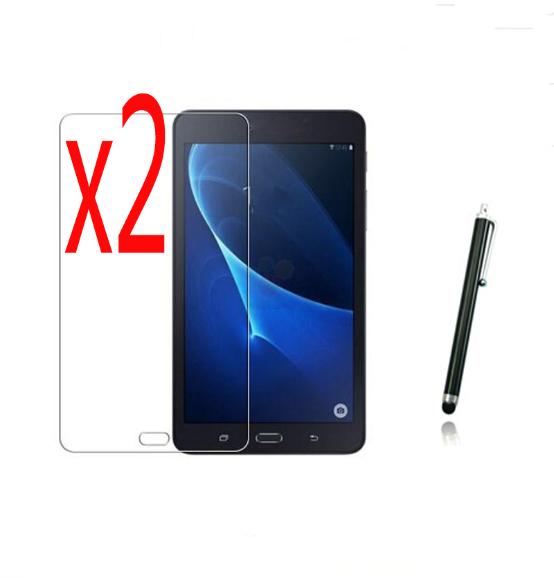 3in1 2x Clear LCD Screen Protector Films Protective Film Guards Stylus For Samsung Galaxy Tab A