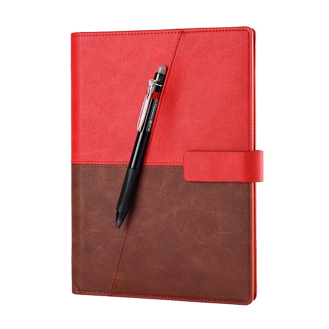Leather Wirebound Reusable Cloud Storage Smart Notebook