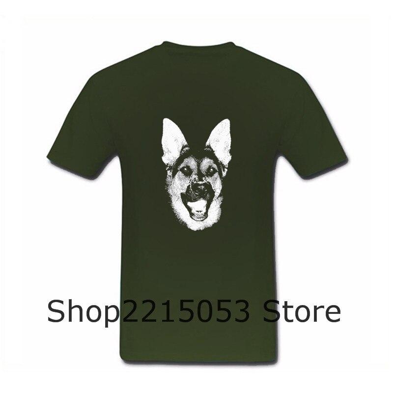 Exercise Short Sleeve Cotton German shepherd w Summer T Shirt Men T-Shirt MALE TSHIRT corinthians in moscow monsta x helloween