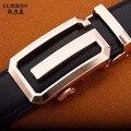 2017 NUEVA Vaca Cinturones de Cuero Genuino para Los Hombres de Marca de Alta calidad de Metal Cinturón Hebilla Automática Correa Masculina de la correa de Vaquero 32 Diseños 100-120 CM