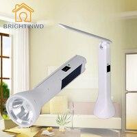 LED şarj edilebilir taşınabilir masa danışma lamba ve 2 W güçlü el feneri çift kullanım güneş ile şarj edebilirsiniz
