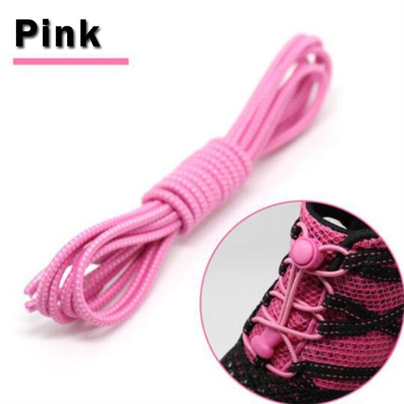 Elastic Locking Shoelaces Shoe Laces Trainer Running Jogging Hiking Sporting