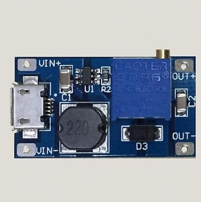 2A booster board DC-DC step-up input 2/24V to 5/9/12 / 28V Replace XL6009