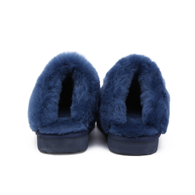 MBR FORCE Fashion Warm Women Shoes Natural Fur  Slippers Home Shoes Winter Suede Slippers Woman Indoor Shoes Wool Slippers 3