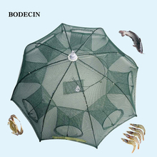 Nylon 8 Hole Fishing Net Fish Network Casting Nets Crayfish Catcher Trap Mesh Cheap Throwing Cast Folded Portable China Cages