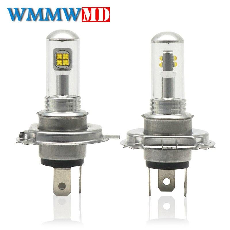 H4 9003 HB2 High Power LED Fog Driving Light Bulbs DRL Headlight Kit 6000K White