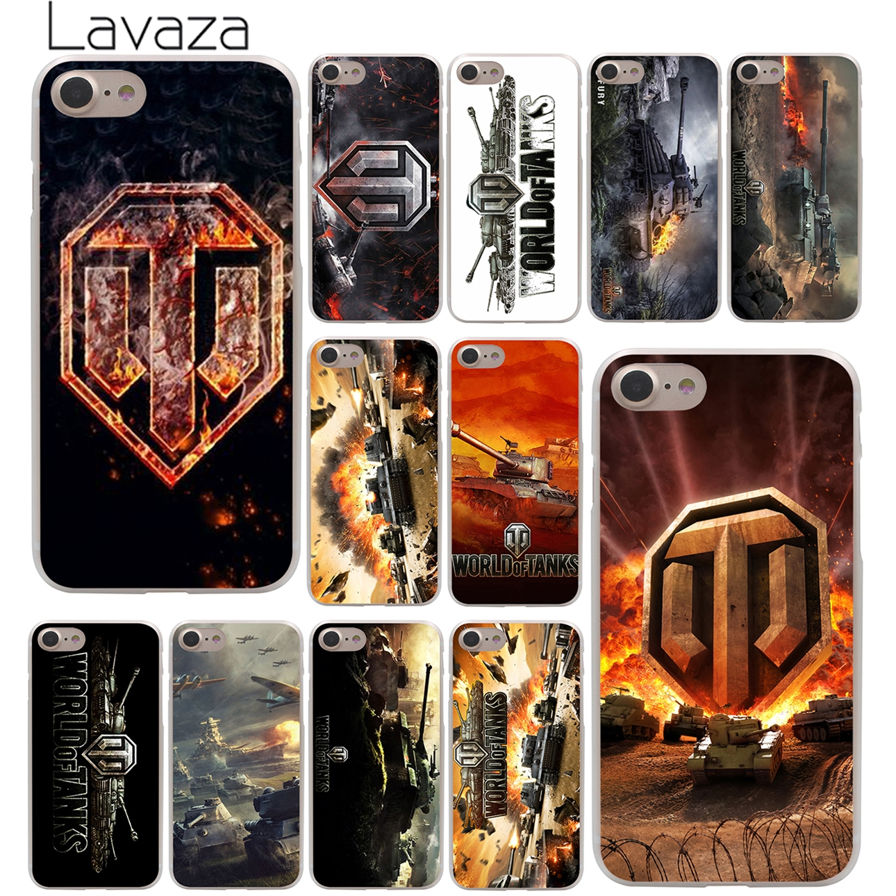 world of tanks Hard Case Transparent for iPhone 7 7 Plus 6 6s Plus 5 5S SE 5C 4 4S