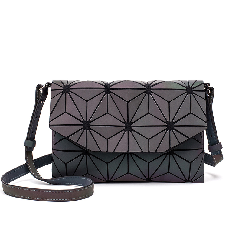 Image 3 - 2019 Fashion Geometric Casual Clutch Messenger Bags Luminous Designer Women Evening Bag Shoulder Bags Girls Flap Handbag-in Shoulder Bags from Luggage & Bags