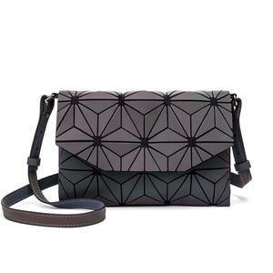 Image 3 - 2020 Fashion Geometric Casual Clutch Messenger Bags Luminous Designer Women Evening Bag Shoulder Bags Girls Flap Handbag