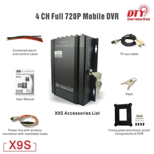 цена на 4 channels video recording HDD DVR H.264 AHD 720P MOBILE DVR For Taxi Car School Bus Truck ,X9s