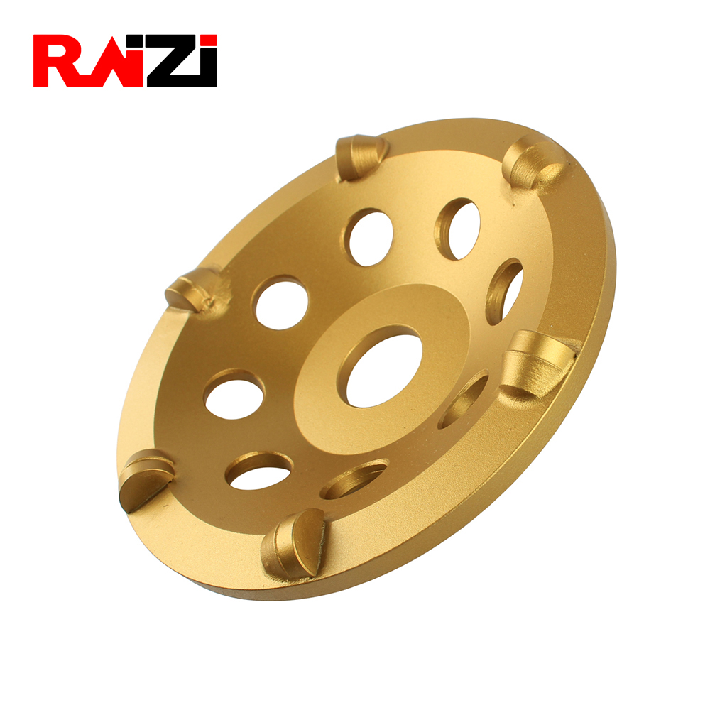 Raizi 5 Inch/125 Mm PCD Cup Grinding Wheel For Concrete Angle Grinder