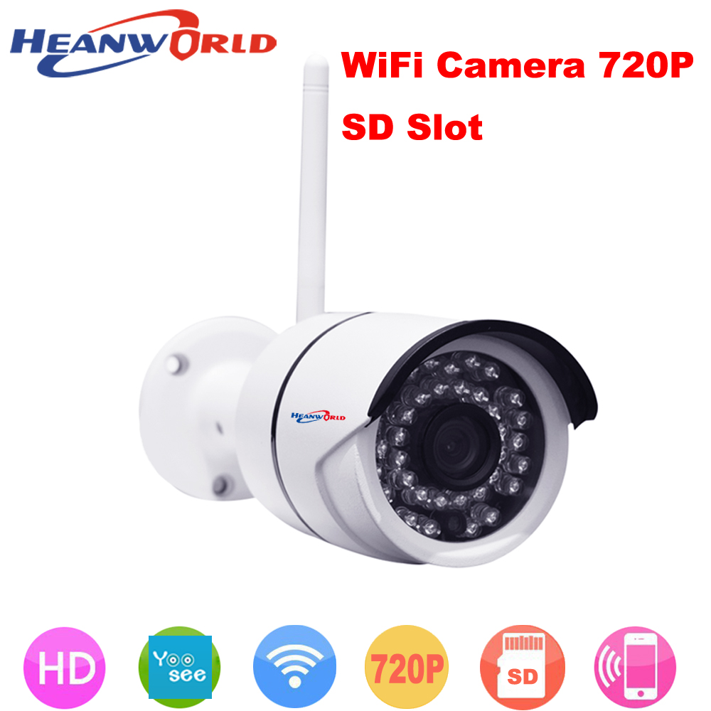 Heanworld outdoor Wifi IP camera surveillance IP cam with micro SD slot CCTV Webcam Network Security Camera support mobile phone heanworld dome ip camera hd h 265 5 0mp cctv security camera video network camera onvif surveillance outdoor waterproof ip cam