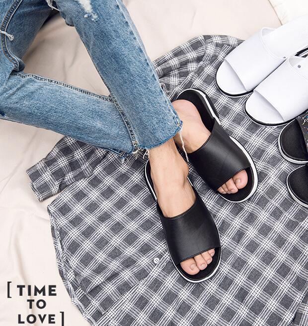 090 Casual Superior Sólida Cor Qualidade Verão Sapatos Clássico Masculinos Chinelo Estilo Novo PwnAxqO1Sn