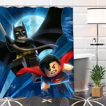 Eco-friendly Custom Unique Batman Superman-Anno Fabric Modern Shower Curtain bathroom Waterproof for yourself H0220-111